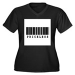 Priceless Barcode Design Women's Plus Size V-Neck