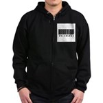 Priceless Barcode Design Zip Hoodie (dark)