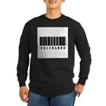 Priceless Barcode Design Long Sleeve Dark T-Shirt