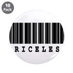 "Priceless Barcode Design 3.5"" Button (10 pack"