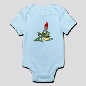 Gnome Riding a Frog Infant Bodysuit