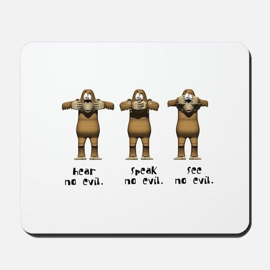 Hear No Evil Monkeys Mousepad