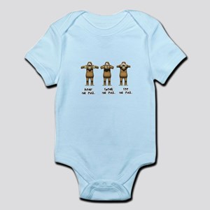 Hear No Evil Monkeys Infant Bodysuit