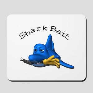 Funny Shark Bait (Bite) Desig Mousepad