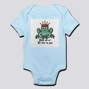 Kiss Me or I'll Fart Infant Bodysuit