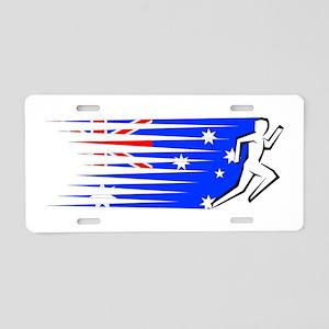 Athletics Runner - Australia Aluminum License Plat
