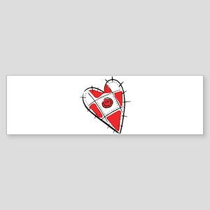 Cute Pin Cushion Patchwork He Sticker (Bumper)