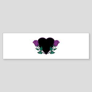 Black Heart & Purple Roses De Sticker (Bumper)