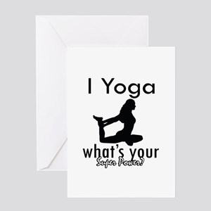 I Yoga Greeting Card