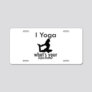 I Yoga Aluminum License Plate