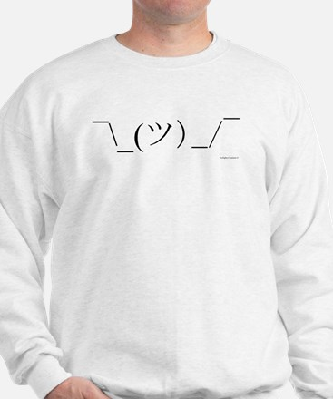 Shrug Emoticon Sweatshirt