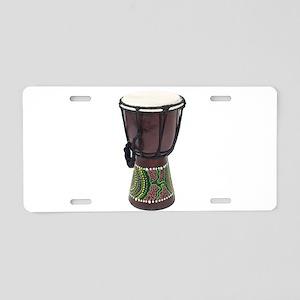 Tall_Djembe_Drum Aluminum License Plate