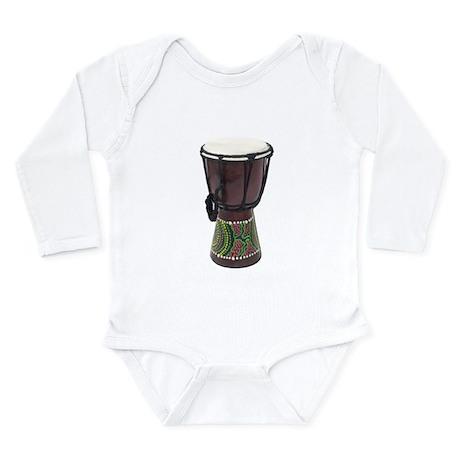 Tall_Djembe_Drum Long Sleeve Infant Bodysuit