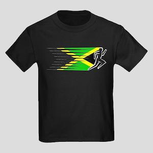 Athletics Runner - Jamaica Kids Dark T-Shirt