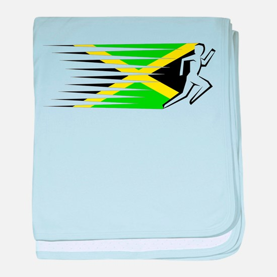 Athletics Runner - Jamaica baby blanket