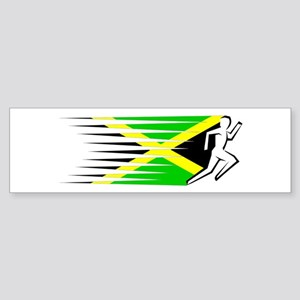 Athletics Runner - Jamaica Sticker (Bumper)