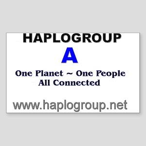 Haplogroup A Rectangle Sticker