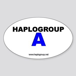 Haplogroup A Oval Sticker