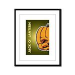 Jack-O'-Lantern Framed Panel Print