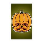 Jack-O'-Lantern Sticker (Rectangle)
