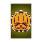 Jack-O'-Lantern Sticker (Rectangle 10 pk)