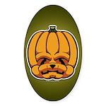 Jack-O'-Lantern Sticker (Oval)