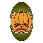 Jack-O'-Lantern Sticker (Oval 10 pk)