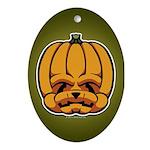Jack-O'-Lantern Ornament (Oval)