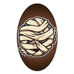 The Mummy Sticker (Oval 10 pk)