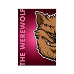 The Werewolf (Brown) Rectangle Magnet (100 pack)