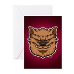 The Werewolf (Brown) Greeting Cards (Pk of 20)