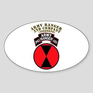 SOF - Army Ranger - 2nd Company Sticker (Oval)