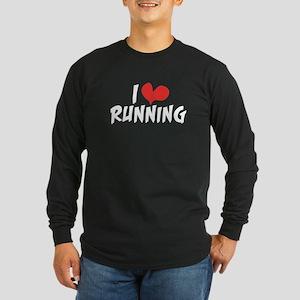 I heart (love) running Long Sleeve Dark T-Shirt