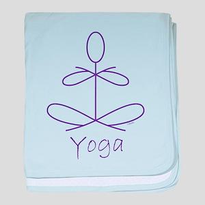 Yoga in Purple baby blanket