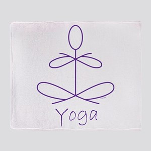 Yoga in Purple Throw Blanket