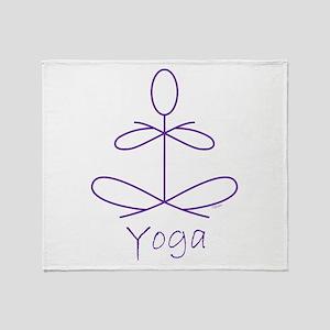 Yoga in Purple Throw Blanket