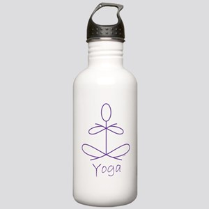 Yoga in Purple Stainless Water Bottle 1.0L
