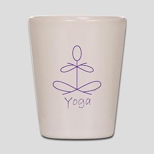 Yoga in Purple Shot Glass