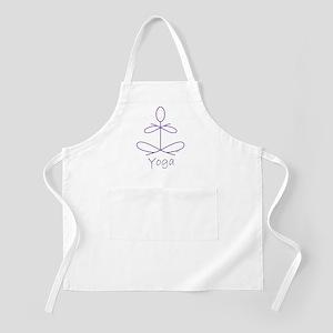 Yoga in Purple Apron