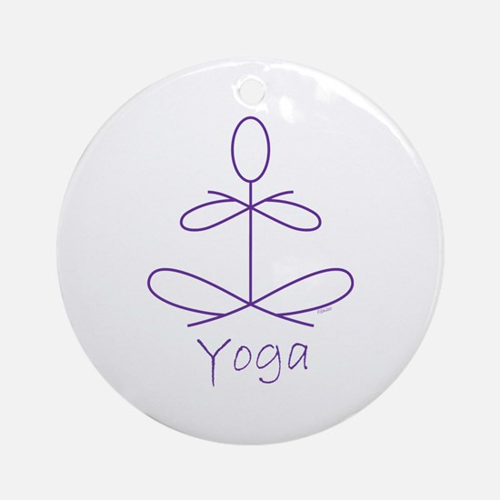 Yoga in Purple Ornament (Round)