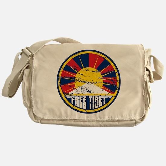 Free Tibet Grunge Messenger Bag