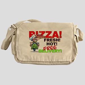 Pizza Sign Messenger Bag