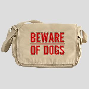 Beware of Dogs(White) Messenger Bag
