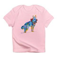 Christmas Holiday German Shepherd Infant T-Shirt