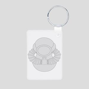 SCUBA Diver Aluminum Photo Keychain