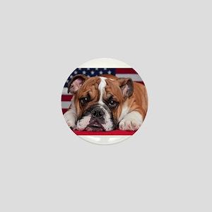 Patriotic Bulldog Mini Button