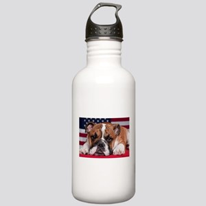 Patriotic Bulldog Stainless Water Bottle 1.0L