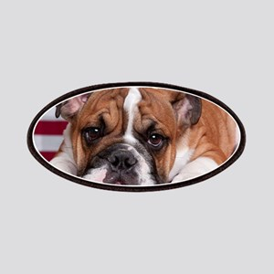 Patriotic Bulldog Patches