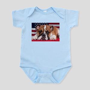 Patriotic Bulldog Infant Bodysuit