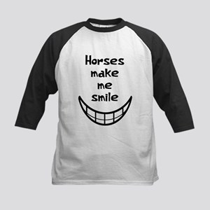 Horses Smile Kids Baseball Jersey